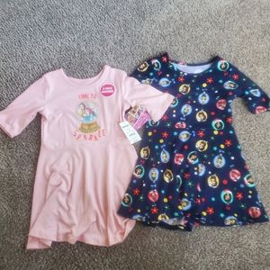NEW 2 pack disney princess dresses